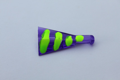 Small violet UV Power Hooker Chartreuse Zombie SKU-031